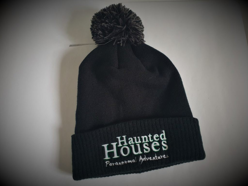 Haunted Houses Official Black Bobble Hat