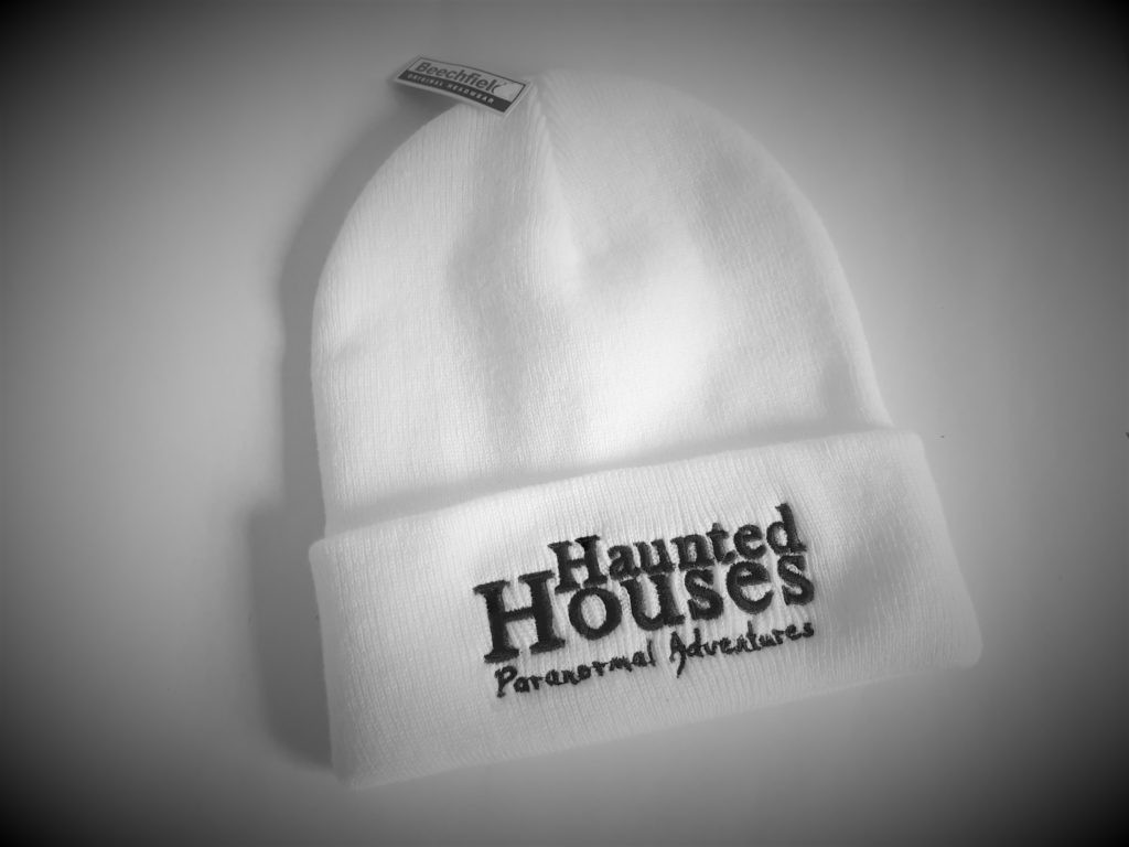 Haunted Houses Official White Beanie Hat
