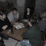 Gresley Old Hall ouija board in use