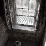 Window in castle with view of exterior