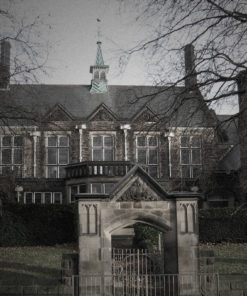 Old Haunted School exterior Old Haunted School corridor Old Haunted School room with large table surrounded by chairs Old Haunted School staircase Old Haunted School hallway Old Haunted School hall Old Haunted School hallway Old Haunted School staircase