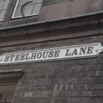 Steelhouse Lane signage