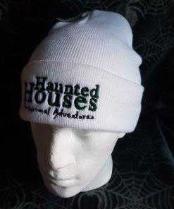 Haunted Houses white beanie