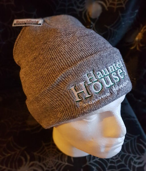 Haunted Houses light grey beanie