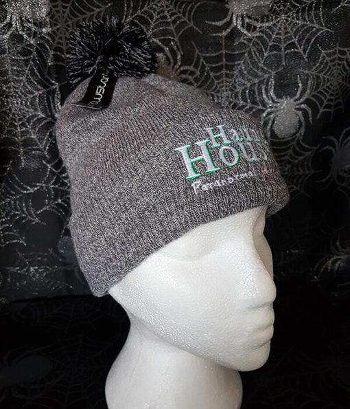 Haunted Houses light grey bobble hat