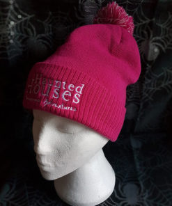 Haunted Houses pink bobble hat