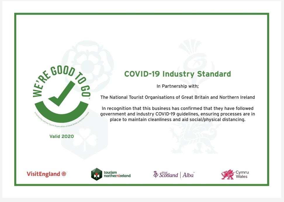 Haunted Houses Events Ltd - WE'RE GOOD TO GO Certificate 2020