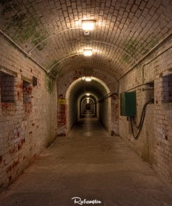 Dark Tunnel in Portsmouth. Haunted Tunnels. Soldiers. Fort.