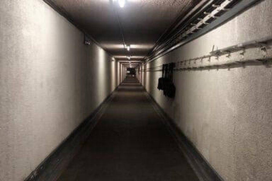 Long corridor of the Kelvedon Hatch, Essesx Ghost Hunt