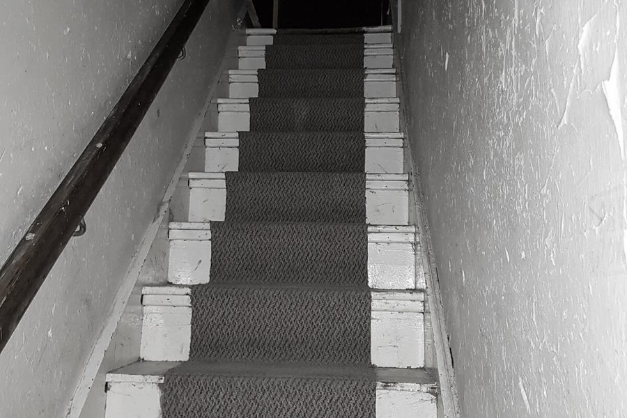 Abandoned Park Hotel stairs