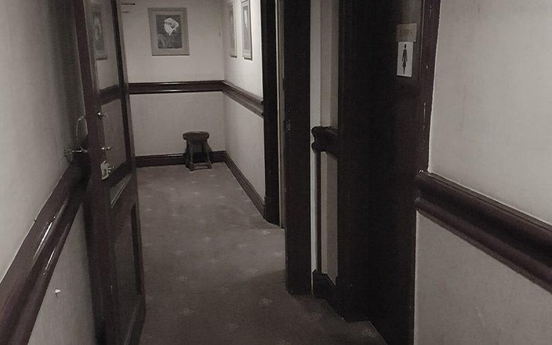 Abandoned Park Hotel hallway
