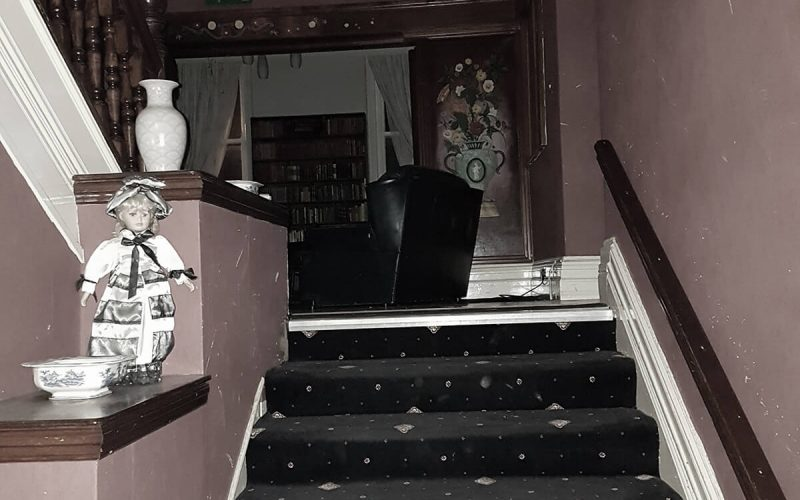 Abandoned Park Hotel staircase