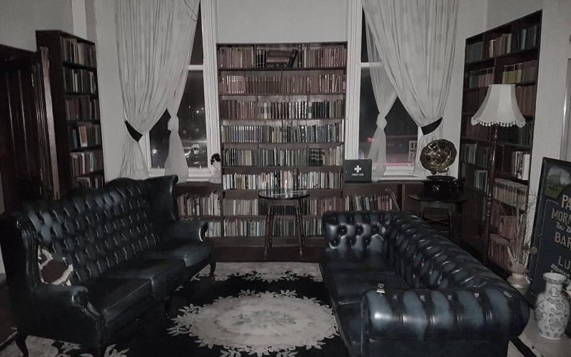 Abandoned Park Hotel leather sofas