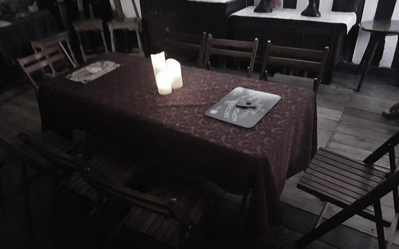 ouija board on table
