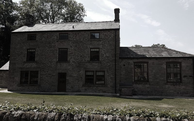 exterior of farmhouse