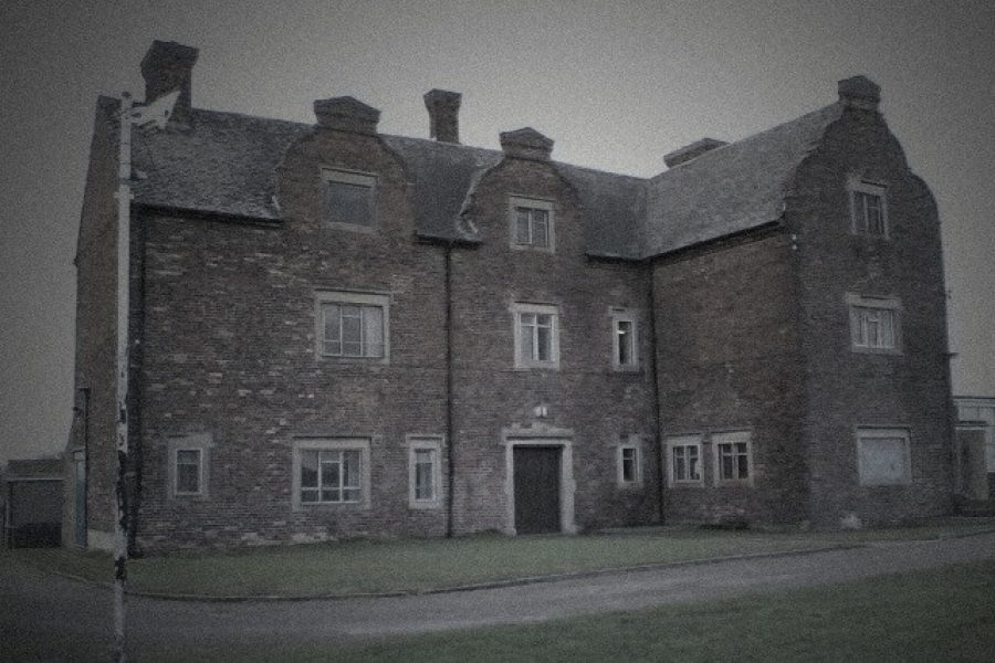 Frightful and Macabre Gresley Old Hall exterior, very Sinister