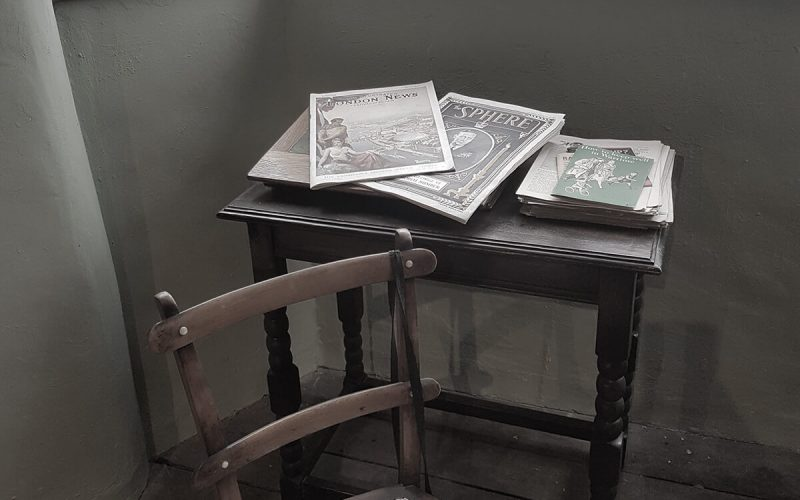 Haden Hill Hall side table with chair