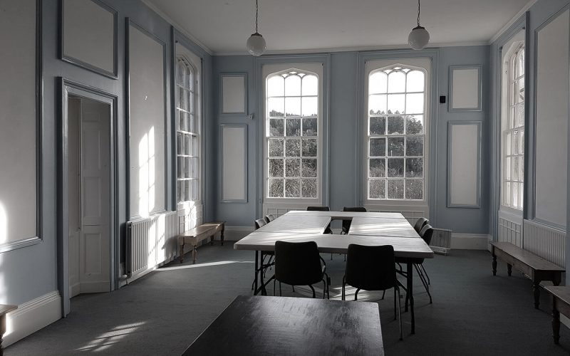 Castle room with table and chairs
