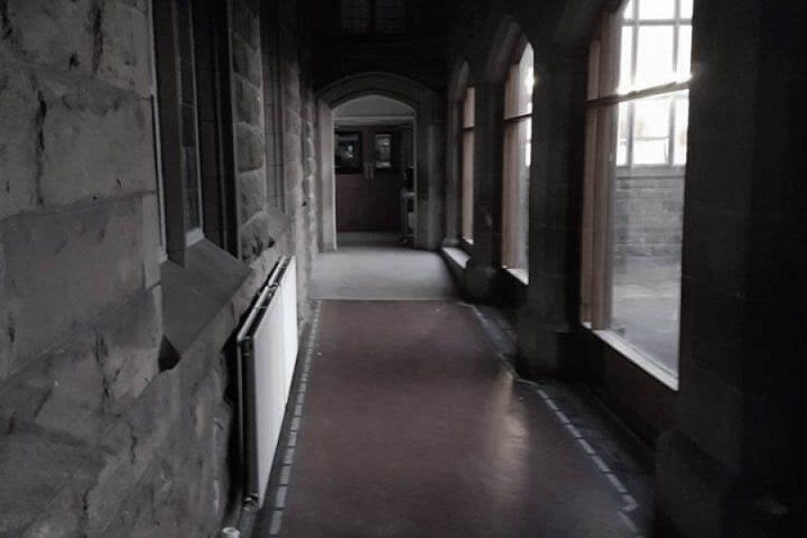 Old Haunted School corridor