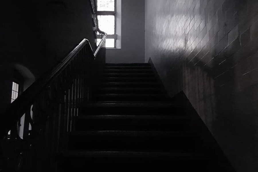 Old Haunted School staircase
