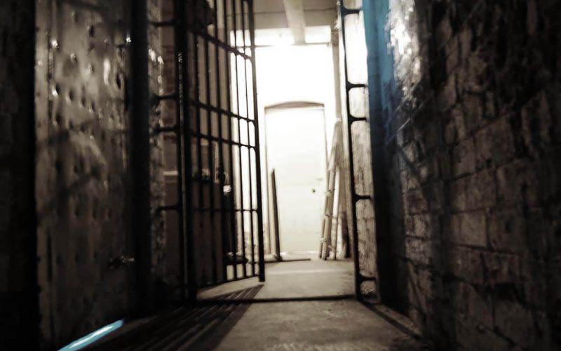 Old Nick Theatre gate in hallway