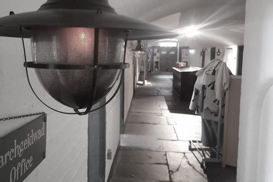 Ruthin Gaol close up of light fitting