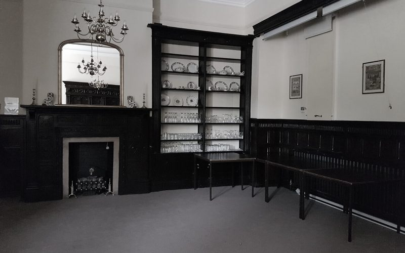 Strelley Hall empty room with china cabinet in the corner