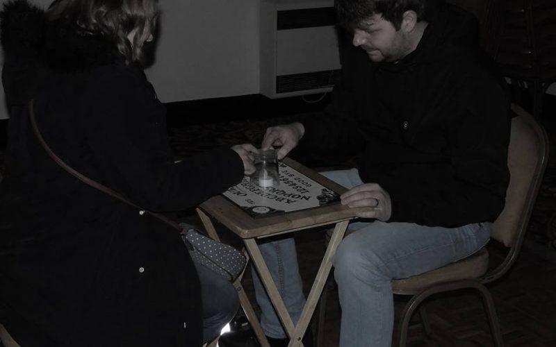 Walton Hall people using ouija board
